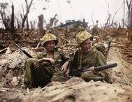Bataille de Peleliu / Bataille pour la prise de l'île de Peleliu, la bataille commencent le 15 septembre 1944 avec le débarquement américain