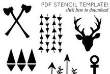 plantillas y siluetas / todas las plantillas, etiquetas, siluetas y de mas para mi silhouette