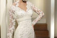 wedding dresses/ veils