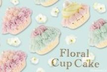 Q-pot. JAPAN FLORAL CupCake Collection / The flower garden of colorful cakes...