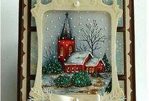 tarjetas otoño-invierno / tarjetas temporadas de otoño e invierno