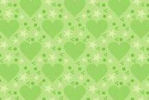 papeles verdes / papeles y fondos de color verde