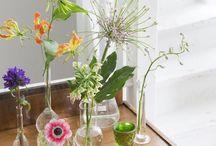 Bloemen op tafel