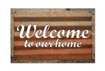 Corrugated Metal Signs / These corrugated metal signs provide the ultimate rustic appeal. They are available with the barn wood frame or without.  Buy Direct from us for discounts and savings! We manufacture and distribute Vintage Metal Signs, Clocks, Thermometers and Canvas Prints. All of our products are handmade in America with the highest quality metal and manufacturing process. http://www.pasttimesigns.com