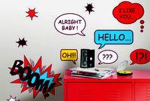Stickers Muraux / Égayez vos murs blancs et créez de superbes ambiances intérieurs avec notre sélection de stickers! Retrouvez également des stickers pour la chambre de vos tout petits!