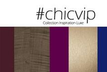 Inspiration Luxe Chic VIP / an opulent design, for rich and sophisticated ambiances / Un glamour cossu pour des ambiances profondes et sophistiquées.