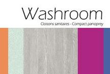Collection Washroom /  Detailing size, specification and suitability, as well as featuring the light reflectance value of each decor, the Washroom Collection 2017 literature is ideal for anyone looking to create striking washrooms with high performance, durability and antibacterial properties.