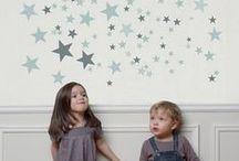 La tête dans les étoiles / Les étoiles s'invitent dans la déco pour un intérieur féérique, doux et poétique.