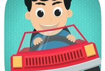Kids Toy Car Driving Game / Play with your kids in a car ! Driving can be fun.  Kidds app on Google Play, App Store and Amazon.