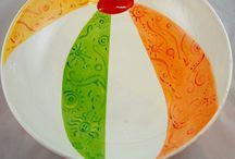 Porcelana infantil / Pinturas, em Porcelana, com temas infantis.