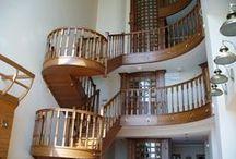 Изготовление нестандартных лестниц на заказ (Manufacture of non-standard staircases to order) / Нестандартные лестницы, тетивы, косоуры, балясины, перила на заказ (Custom stairs stringer, stringers, balusters, railings, custom).
