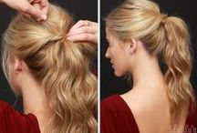 Cute Hair Ponytails / Cute Ponytail hairstyles. Easy ponytails, braided ponytails, updo hairstyles, curled ponytails, simple ponytails, back to school hairstyles, hair for beginners.