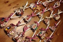 Neighbour christmas gift / Neighbour christmas gift: hot chocolate spoons, gingerbread, traditional hungarian honey cake
