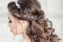 Wedding Hairstyles / Hairstyles for special occasions; school dances; parties; formal events; updos. Braids, curled hairstyles, updos, hair half up, prom hair, homecoming hair, wedding hair, long hairstyles, medium hairstyles, short hairstyles