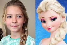 Princess Hairstyles / Cute hairstyles for little girls, disney princess, disney princess hairstyles, updos for girls, girl hairstyles, elsa hair, elsa braid, cinderella, belle hair, sleeping beauty, ariel, snow white, princess hairstyles for girls