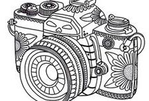 Color My World Happy / Free Coloring Pages