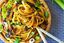 Noodles / Noodle-based dishes. Sub noodles for desired ones. / by shea marie