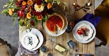 Thanksgiving Tablescape / Thanksgiving and holiday entertaining, beautiful table settings, table decorations. Decorating ideas for Thanksgiving, Christmas, and the Holiday Season.