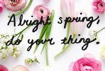 Spring Flowers & Home Decor / We love spring! In this board we are curating our favorite spring flowers, spring decor, spring decorating, spring home decor, spring style, spring candles, spring fragrances..