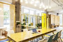 Office Spaces / Studios, coworking spaces, outlandish offices, home offices, organization ideas.