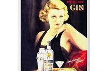 Vintage gin ads