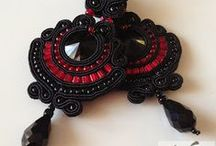 Soutache - gothic earrings / Gothic soutache earrings made by me