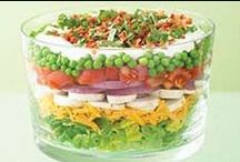 Food: Salads & dressings / Greens, legume salads, all kind of salad with their dressing. Salsas for salad or as a salad and dip