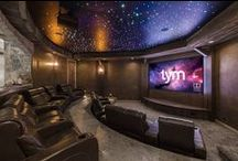 Home Theater ideas / A collection of Home Theater and Home Cinema installations. #HomeTheater #MediaRoom #HomeCinema #SurroundSound #Atmos