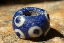 Glass beads. Ancient