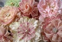 ~Gorgeous Fabric Flowers~ / al kind of fabric flowers diy.NO PIN LIMIT!!