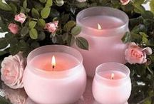 ~Candles full of Romance~ / the light shines brightly and sparkling / by ღWillemijntje's BrocanteHoekjeღ