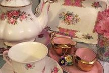 ~Beautiful Shabby Tableware~ / A cup of tea, dinner for two and more.... / by ღWillemijntje's BrocanteHoekjeღ