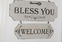 ~Welcome Signs~ / This board special for those who has all kind of lovely cottages ;-)