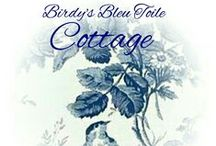 ~Birdy's Blue Toile Cottage~ / Blue Toile and transferware