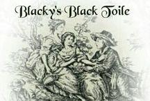 ~Blacky's Black Toile Cottage~ / Black toile and Transferware