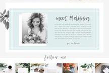 Feminine Website Designs / Feminine website designs for creative entrepreneurs, bloggers, photographers