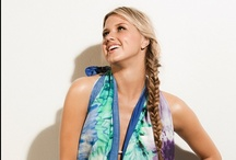 Road Trip - Disco / It has a hippie and 70's vibe, and blue, turquoise, and aqua tones. You'll find tie-dye prints which bring back the feeling of that era. Light colored denim is a novelty in this collection because it's a fabric that looks heavy duty, so we are able to introduce new silhouettes with prints!
