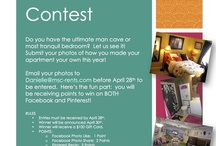 Room Makeover Contest / We will be pinning the photos that you email to us at danielle@Msc-rents.com.  Entries must be received by April 28th.  For every repin your entry receives, you will earn 3 points!  (You can also receive 1 point for your photo's like on Facebook and 2 points for shares on Facebook.)  The winner will have the most points by April 30th!