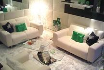 Mod + Contemporary ... Home-H / Residential interior design of a modern VIP room and a contemporary family room.