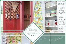 Spring Cleaning / It's that time of year again; spring cleaning time! Let's make it as painless as possible with these simple and fun cleaning ideas