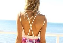 Surfer Girl Fashion / Fun and sexy surf, beach and swim style and fashion. Island vibe style and tropical beach fashion. Surf hair, surfer girls and beautiful ocean inspired jewelry and styles!