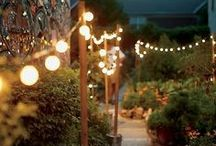 Outdoor Lighting / It's the board for wine bottle upcycling, mason jars, flood lamps, street lamps, Christmas lights-- glow sticks, even! Help your outdoor lighting shine using these tricks and tips from Home Wizards Cindy Dole & Eric Stromer as well as some of our favorite finds from around the web!