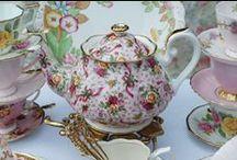High Tea Vintage / High tea en vintage servies verhuur.