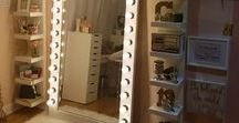 DIY Vanity Ideas / Organization at its best!