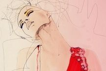 Rysunek żurnalowy   Fashion drawing