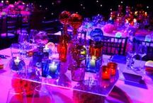 Ideas on Lighting a Party Table / Fabulous ideas on how to creatively light a party table