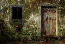 rough surface / walls, doors, windows