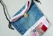 Bags-Little Fabric Bags / by Martha Highland