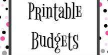 Pretty Printable Budgets