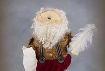 Xmas Sparkles N Spirit Doll Patterns / My original Designs - Doll Patterns for all the Christmas season!